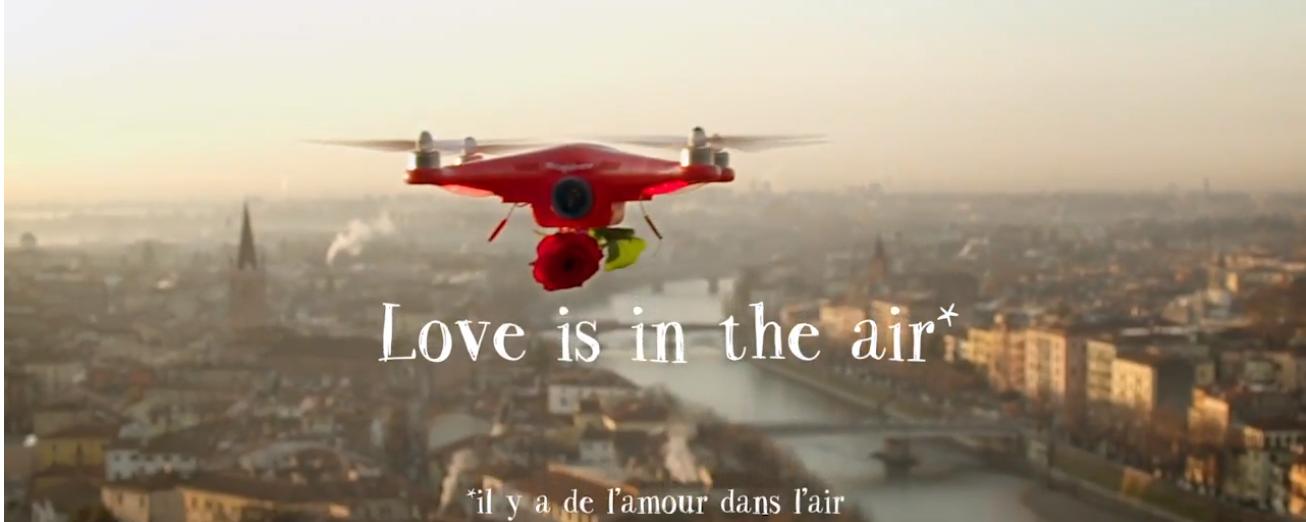le site lajoiedesfleurs.com a developpé un drone spécial pour la saint valentin