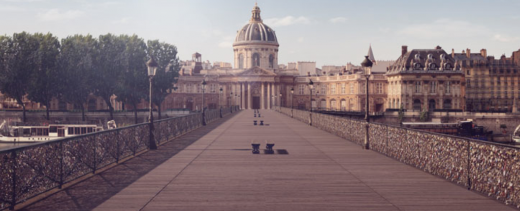 Orange a numérisé le Pont des Arts à Paris pour faire perdurer la tradition des Lock Love