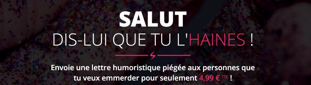le site détestemoi.com propose de déclarer votre haine à quelqu'un pour la saint valentin