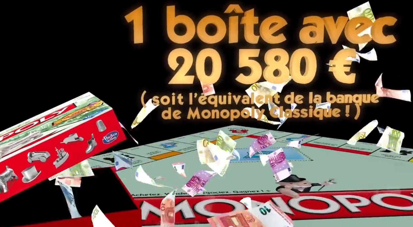 Monopoly rempli ses boites de vrais billets en euros pour son anniversaire