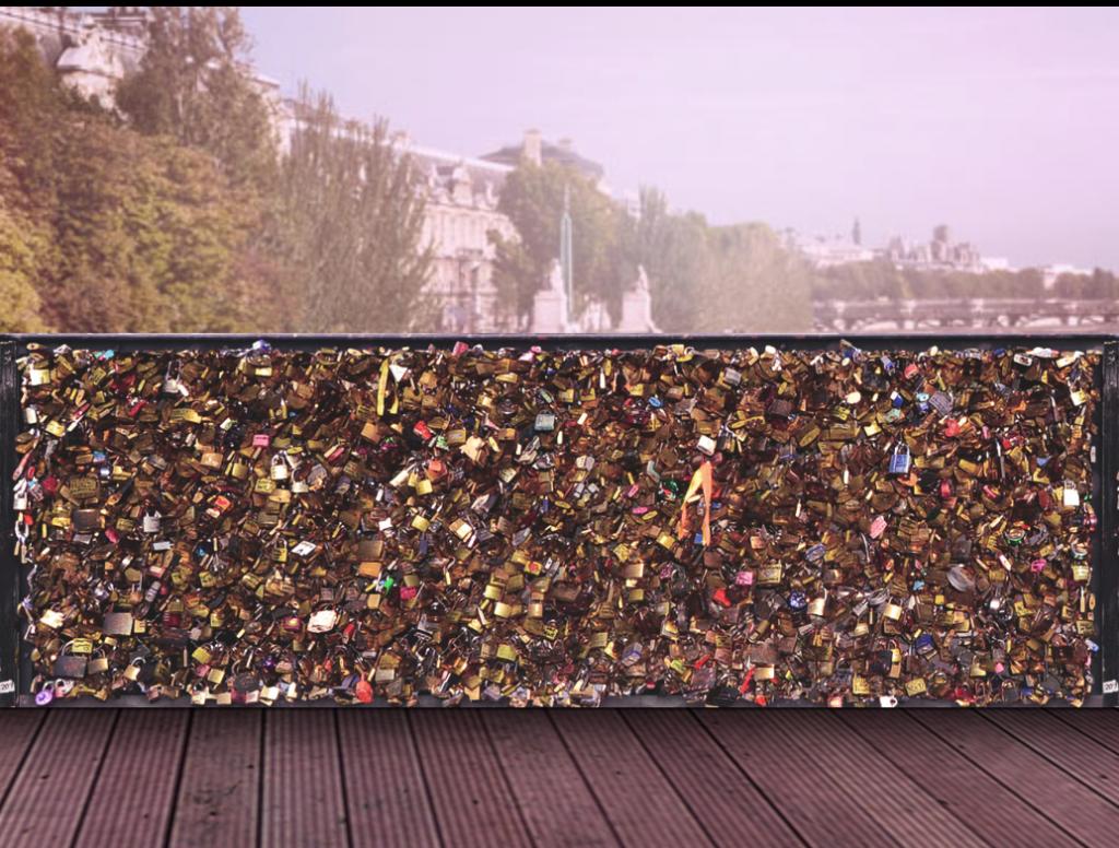 le symbolique Pont des Arts a été numérisé par Orange et l'agence Marcel afin de récréer cet esprit mythique