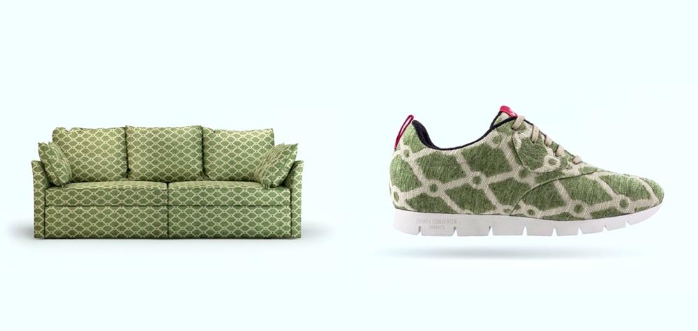dès le 28 février, envoyez un morceau de votre canapé pour le voir se transformer en sneakers