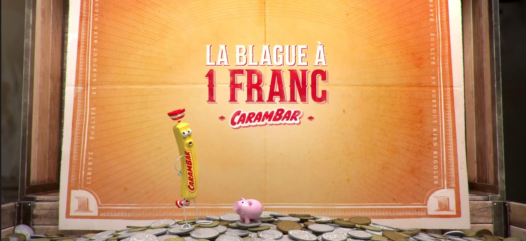 avec l'opération Blague à 1 Franc de Carambar, transformez vos vieilles pièces en carambar et en dons
