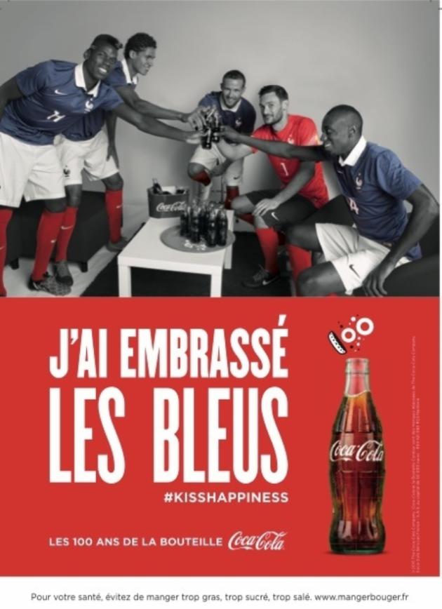 Coca Cola a embrassé Les Bleus
