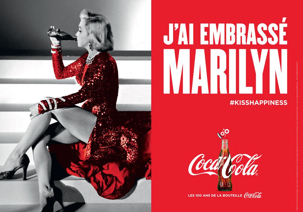 Coca Cola a embrassé Marilyn