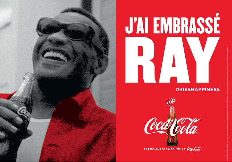 Coca Cola a embrassé Ray Charles
