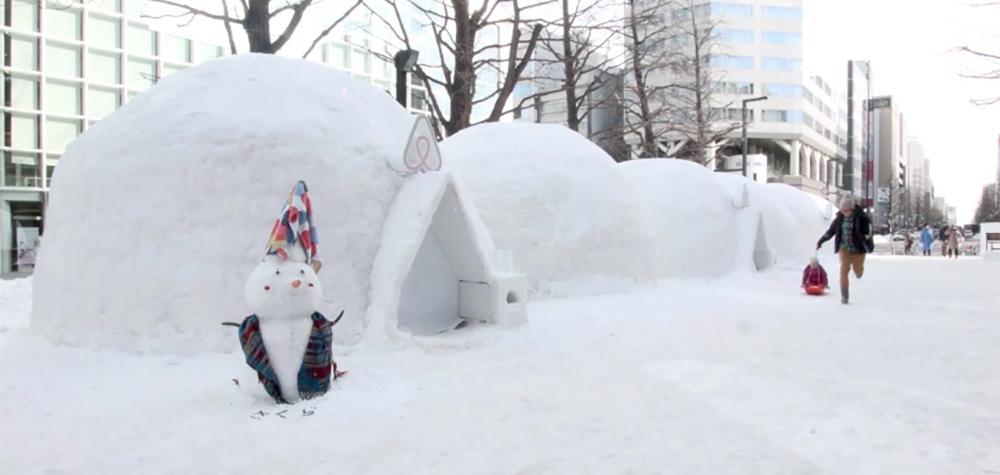Airbnb a aménagé des igloos au Japon