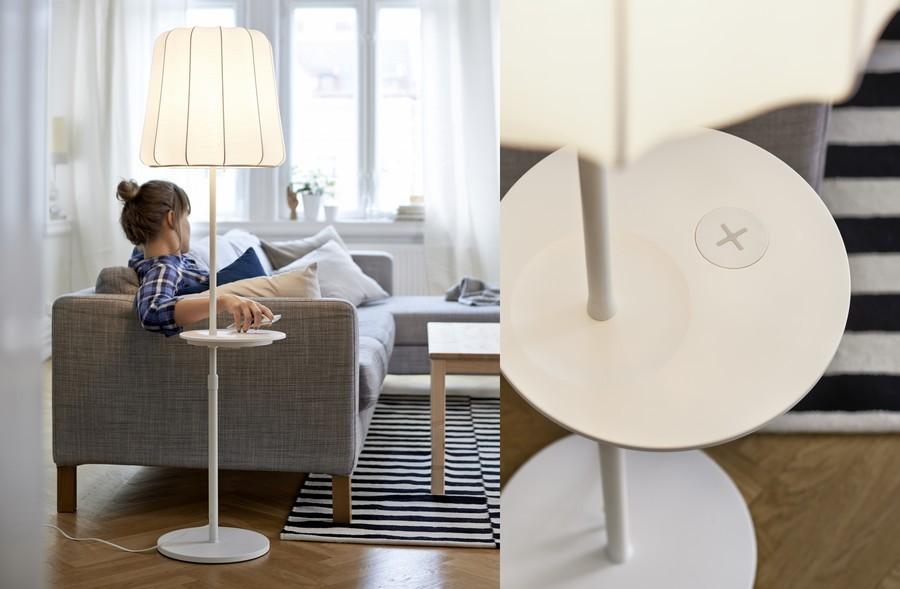 ikea présente sa game home smart avec la technologie Qi intégrée