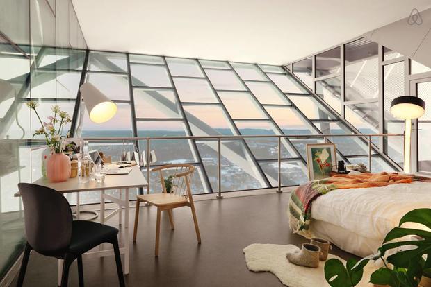 Pour dormir dans cette chambre, il ne fallait pas avoir le vertige !