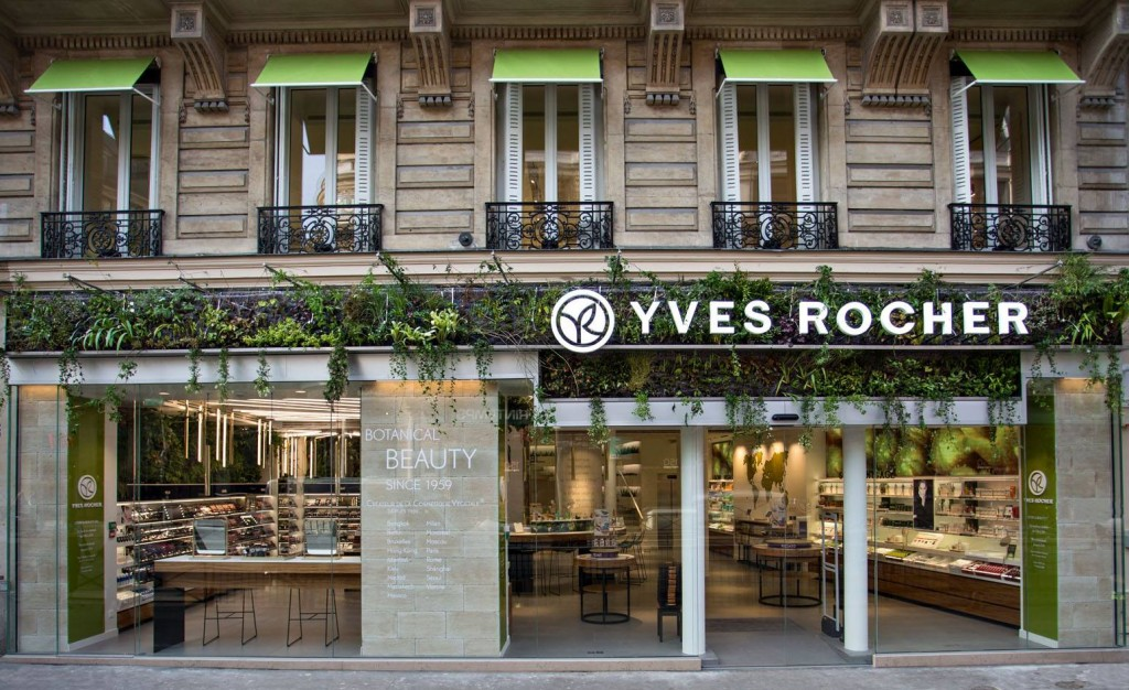 Yves Rocher a inauguré un concept store végétal au boulevard Haussmann