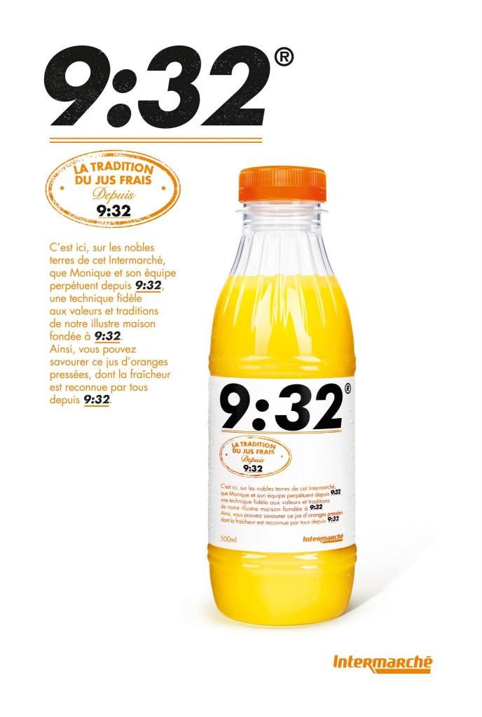 Un jus d'orange pressé dont la fraicheur est reconnu par tous depuis 9H32