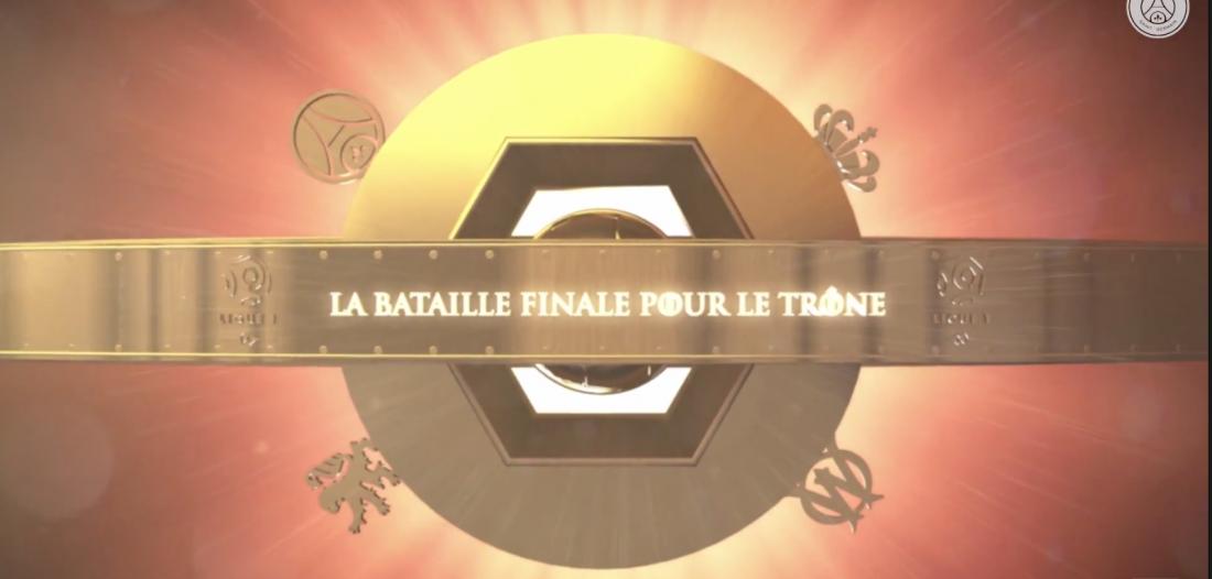 Le PSG illustre la course au trophée de champion de france dans un film façon game of thrones