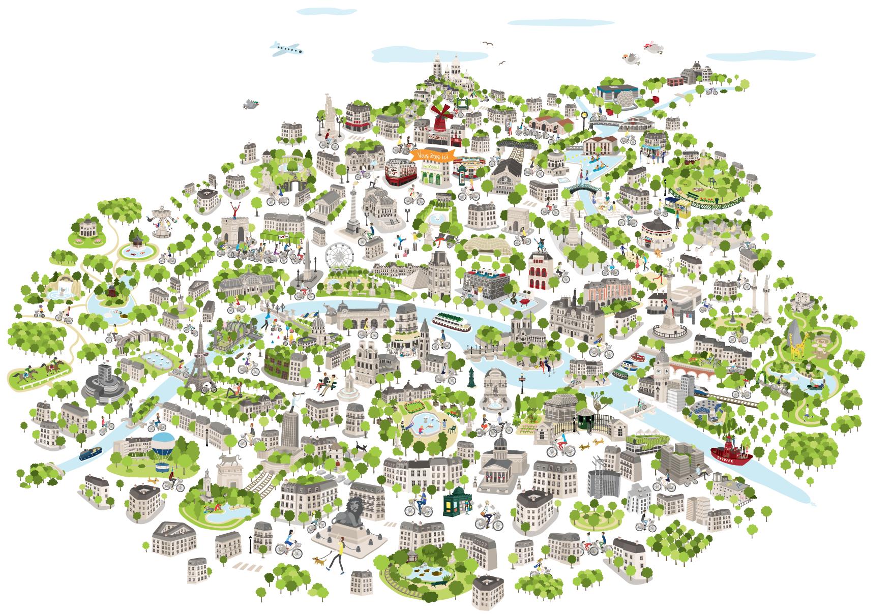 Avec la chasse aux oeufs Vélib' c'est l'occasion de (re)découvrir Paris de façon ludique