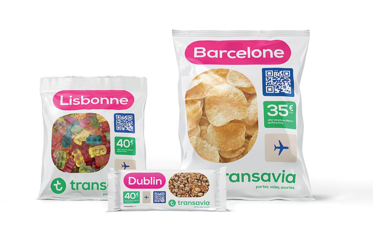 Transavia innove et introduit des billets d'avions dans des snacking