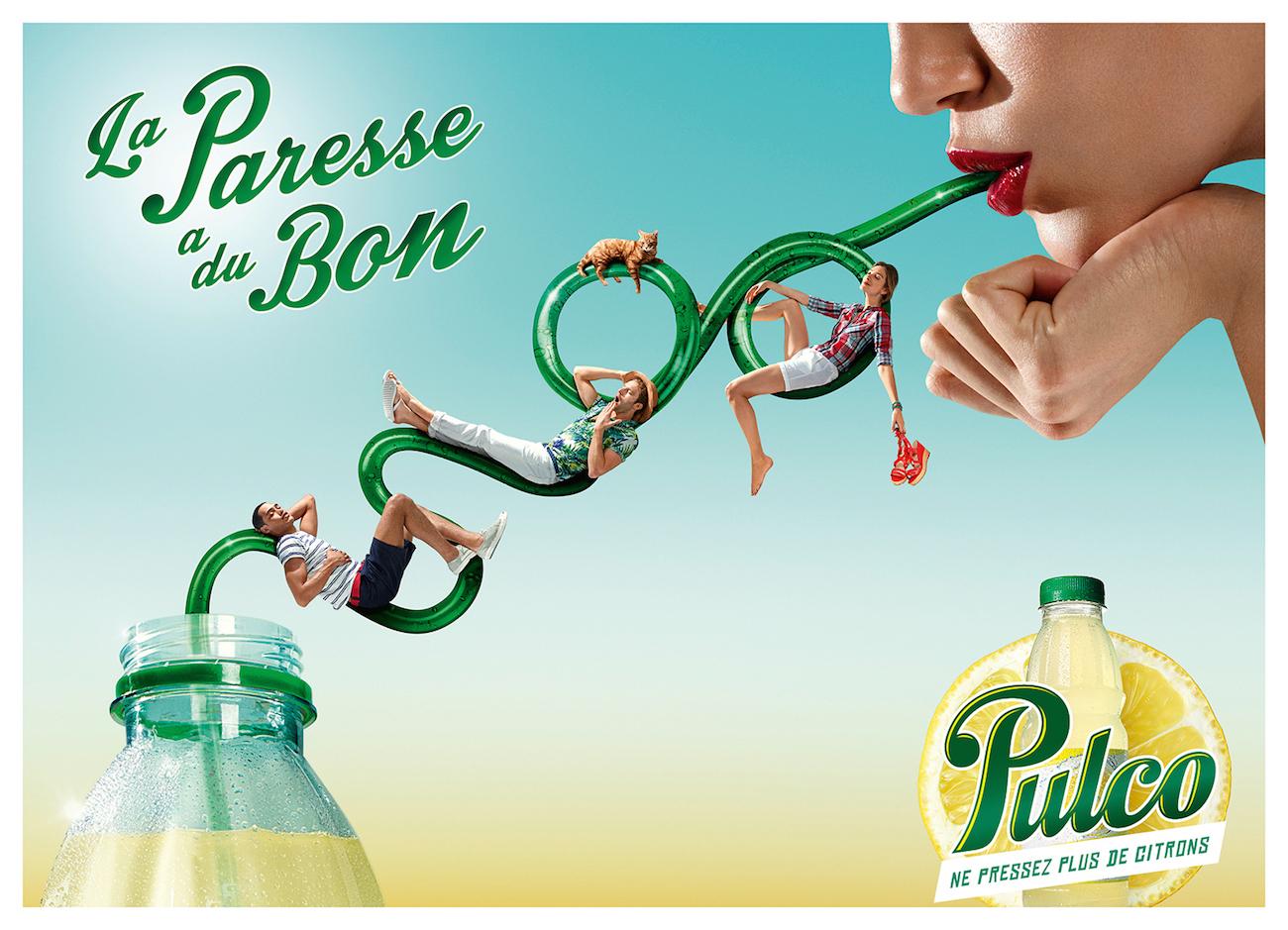 Affiche Pulco La Paresse a du bon 2014 femme paille