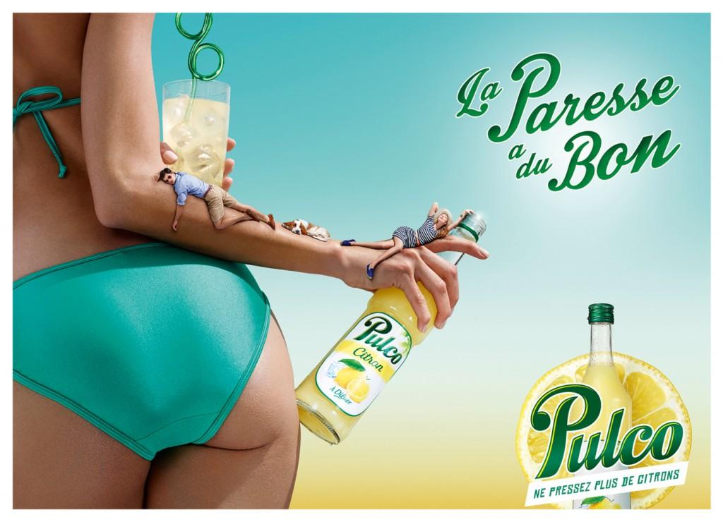 Affiche Pulco La Paresse a du bon 2014 femme en maillot de bain