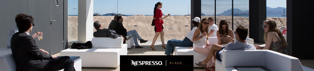 profitez d'un moment de détente entre deux projections avec Nespresso Plage