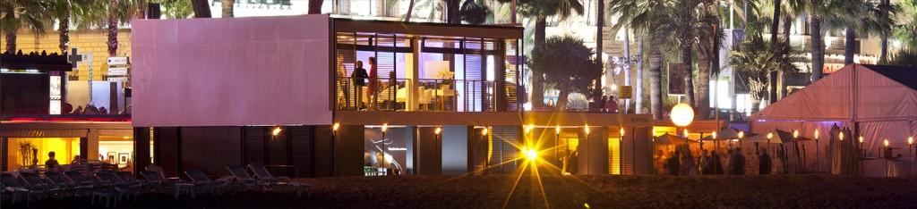 Nespresso a ouvert une plage privée éphémère à Cannes pendant le Festival