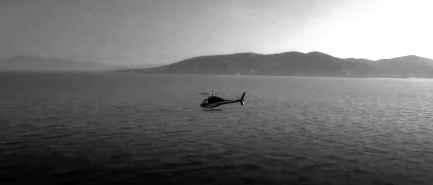 7 minutes de vol en hélico pour une arrivée en grande classe