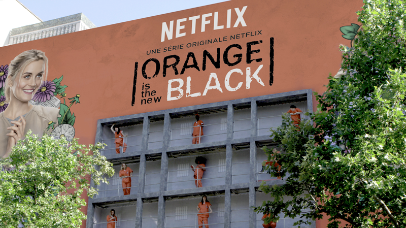 Netflix affiche sa série Orange is the new black grandeur nature à Paris