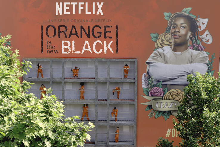 Un dispositif inédit qui est venu surprendre les parisiens pour faire la promotion de la série Orange is the new black sur netflix