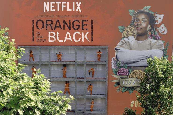Un dispositif inédit qui est venu surprendre les parisiens pour faire la promotion de la série Orange is the new black sur netflix