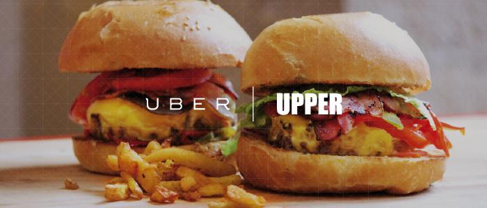 Uber s'est associé à l'enseigne de burgers Upper à Bordeaux