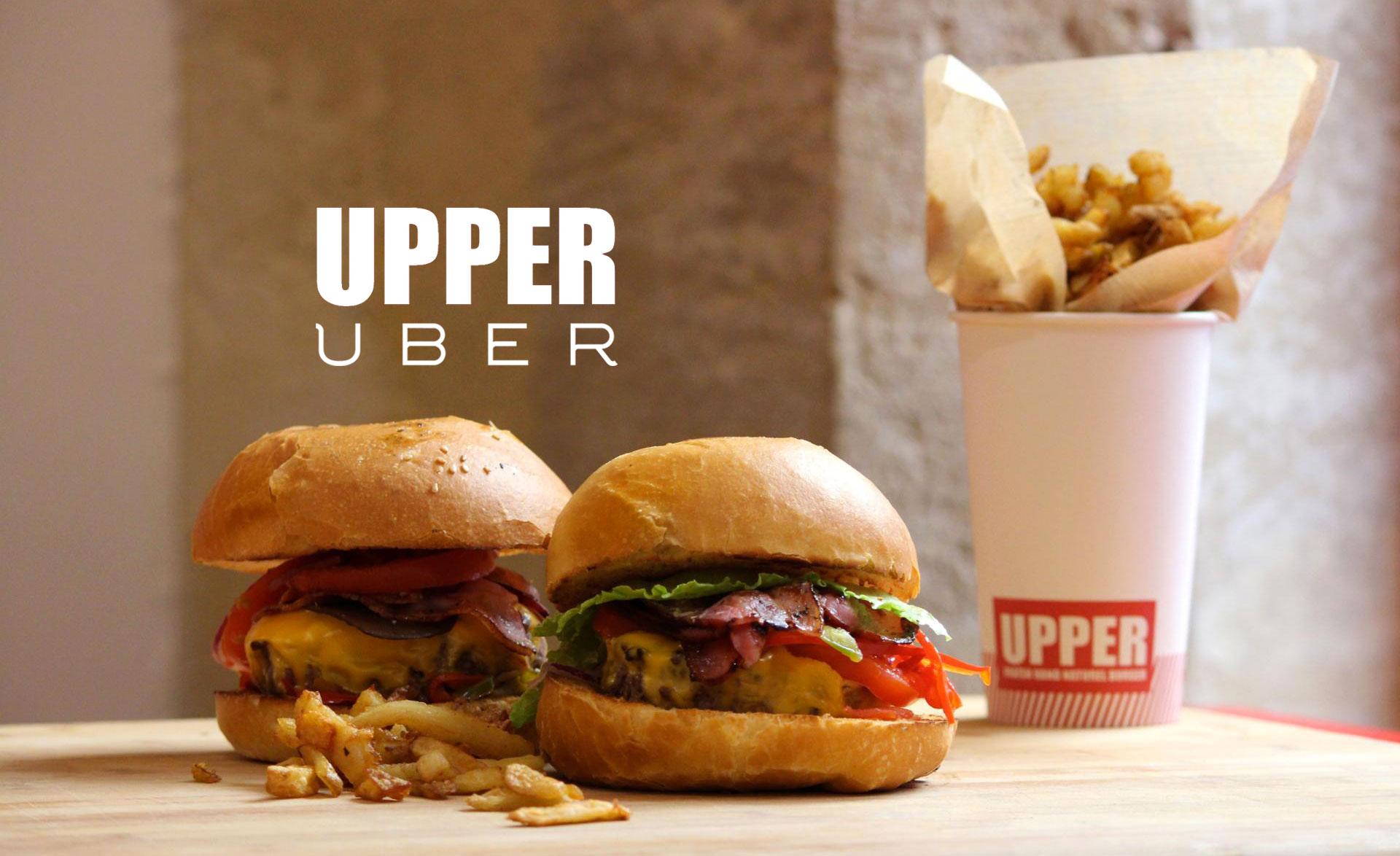 Uber s'est lancé dans la livraison de menu burgers à la minute avec l'enseigne Upper à Bordeaux
