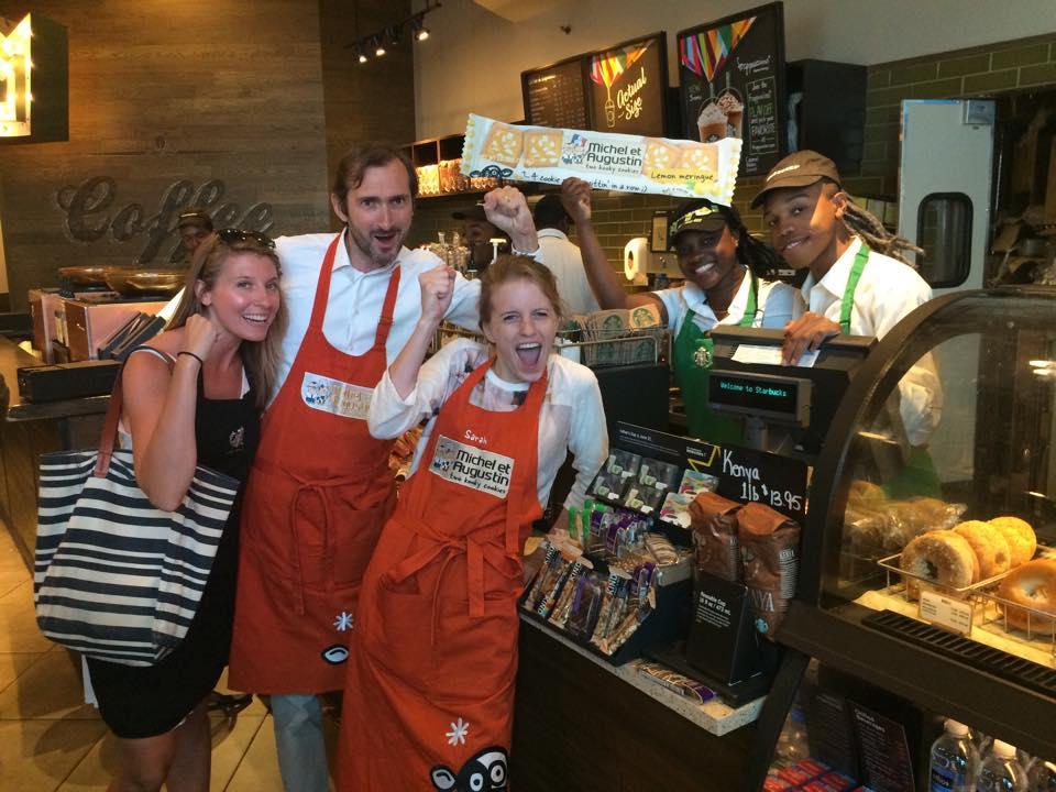 He we go ! Les produits gourmands de Michel et Augustin sont distribués chez Starbucks à New York !