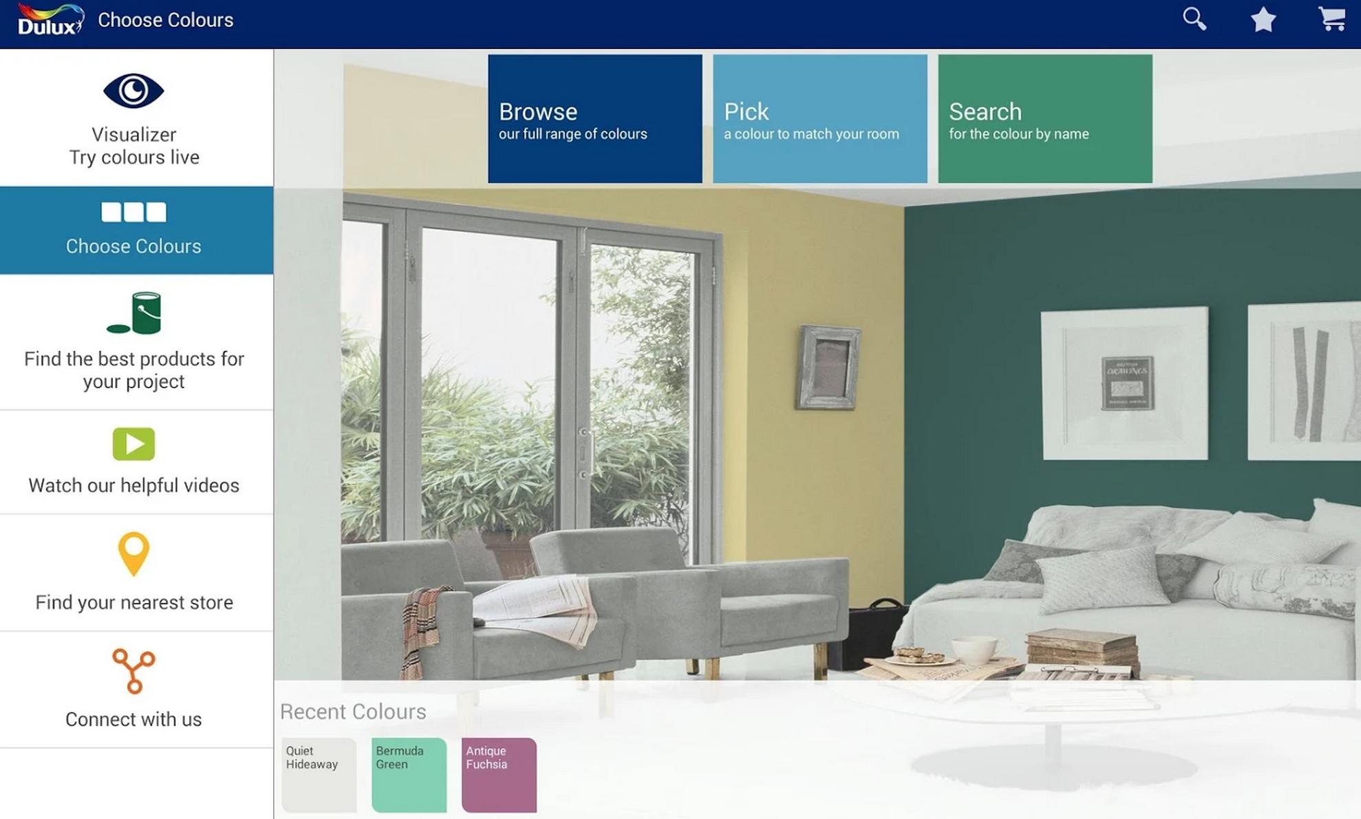 testez directement les couleurs avec dulux valentine actus m dias co. Black Bedroom Furniture Sets. Home Design Ideas