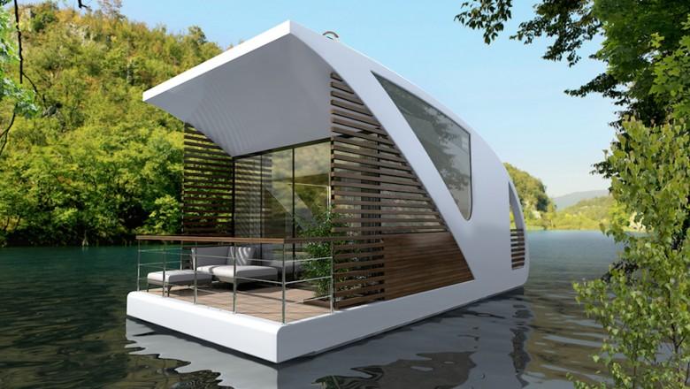 Un concept d'appartement flottant qui permet de naviguer en eaux intérieures pour un dépaysement total