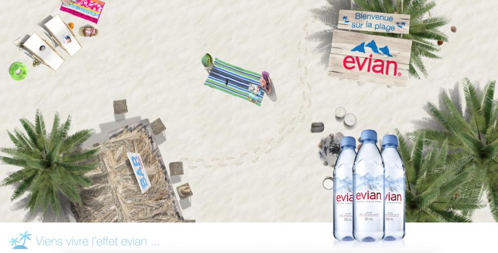 Evian nous accompagne à la plage avec une application ludique où l'on retrouve ses adorables bébés