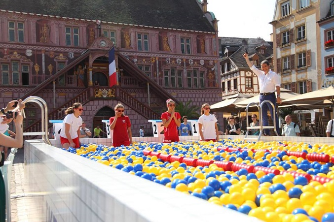 Le Mulhouse Olympic Natation Club est également venu se prêter à la compétition le 3 juillet