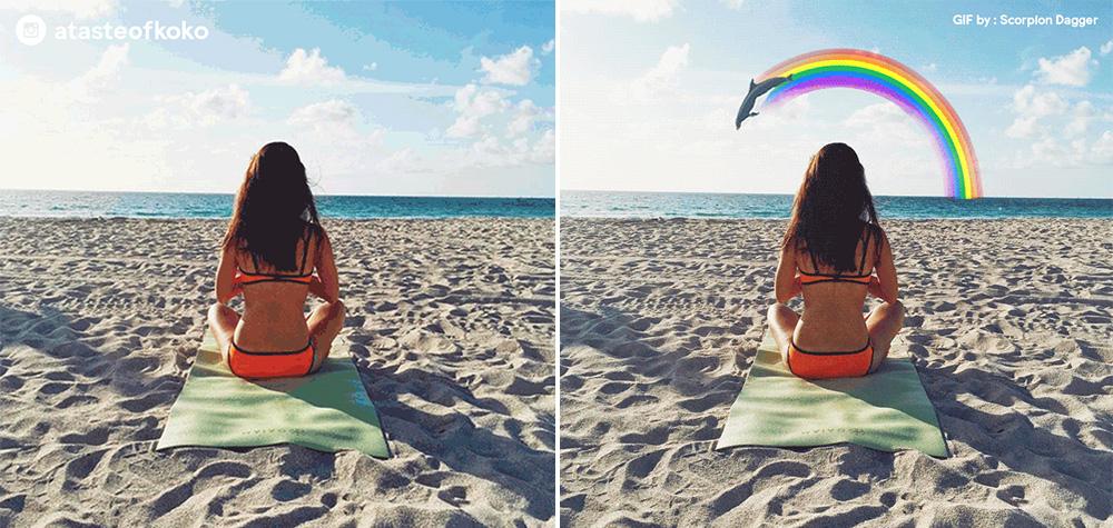 Booking.com transforment les plus belles photos de vacances en gif animé