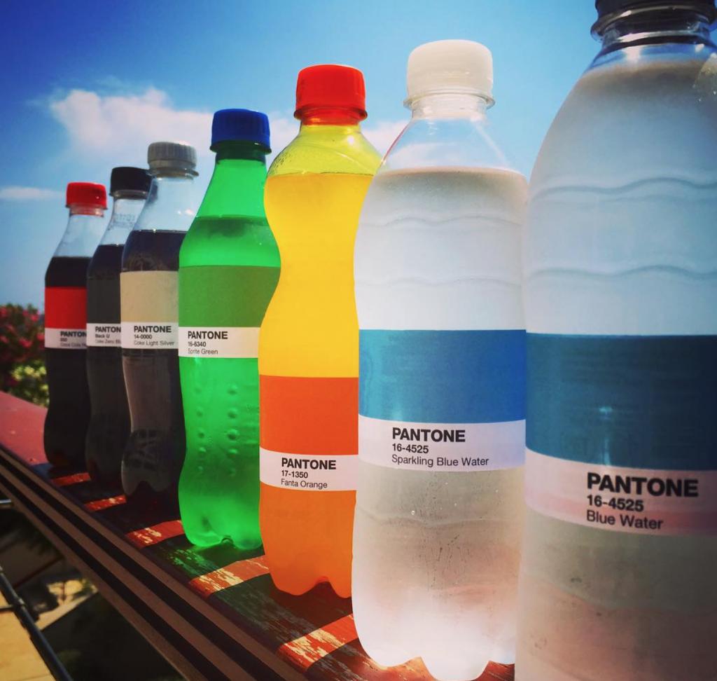 Chaque boisson à sa couleur Pantone