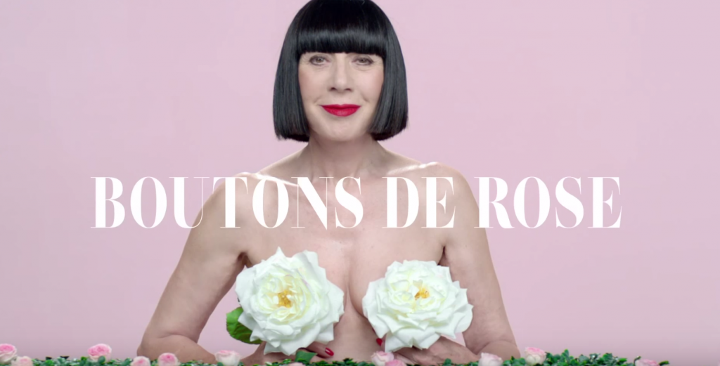 Chantal Thomas et ses boutons de rose