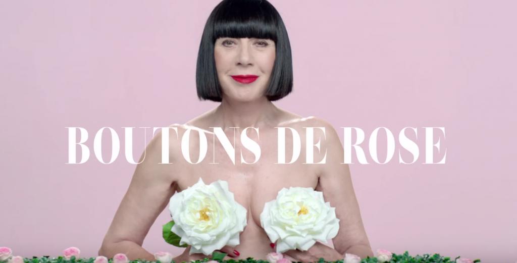 Chantal Thomas et ses boutons de rose