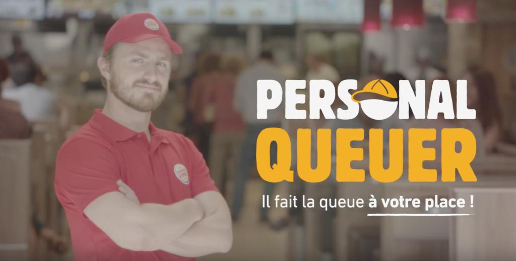 Burger King lance un service de Personal Queuer pour faire la queue à la place des clients