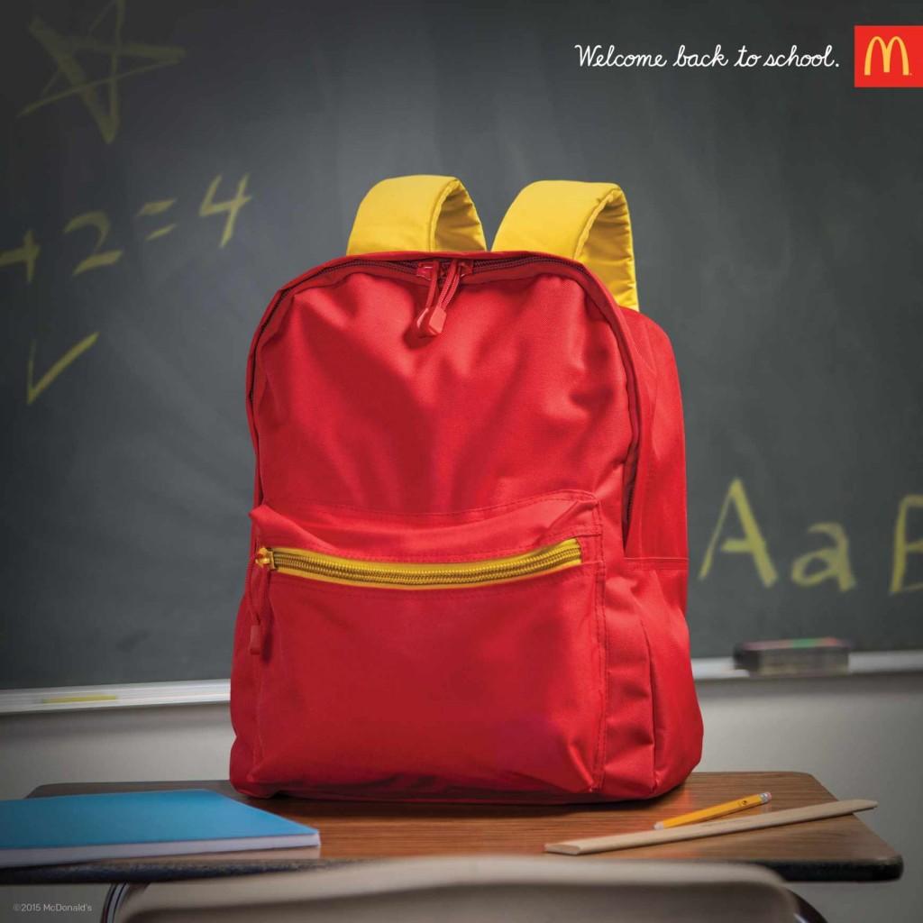 un happy meal ?non un sac à dos pour l'école