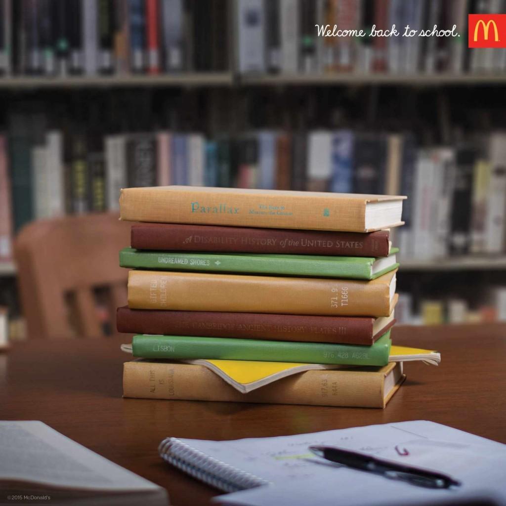 un big mac ? Non les livres à étudier cette année
