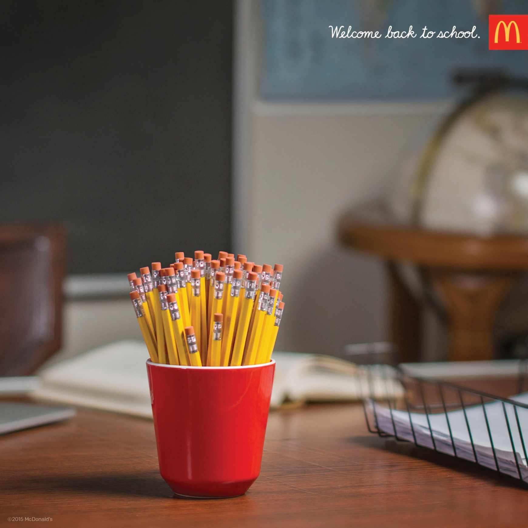 Des frites ? Non un pot de crayon
