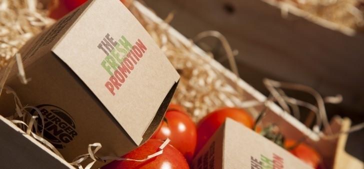 Burger King et Buzzman distribuent des tomates fraiches pour faire la promotion de leur fraicheur