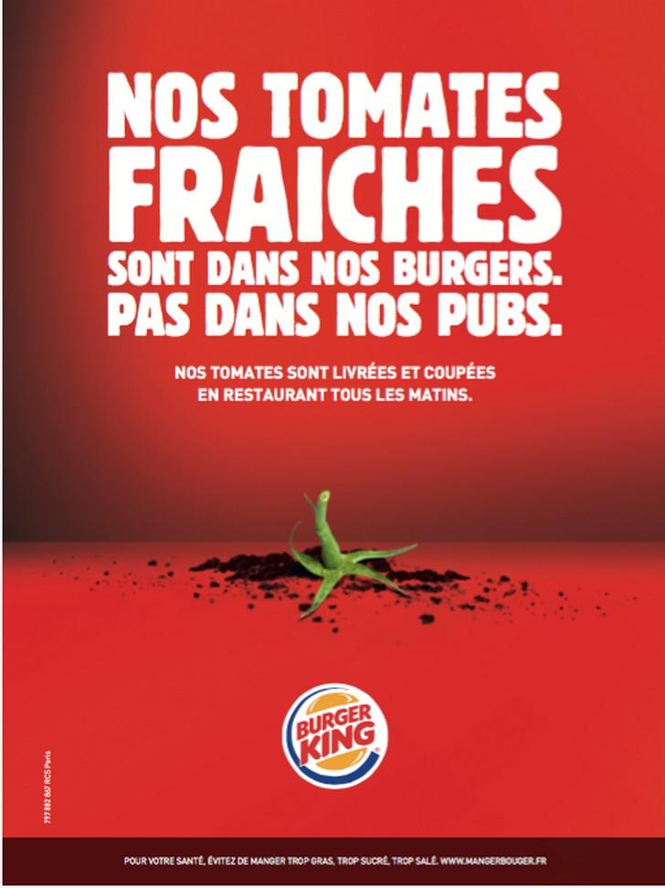Une opération insolite que Burger King accompagne d'une campagne d'affichage