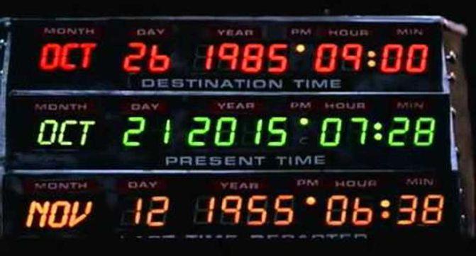 Le 21 octobre 2015 est la date d'arrivée de Marty dans le futur