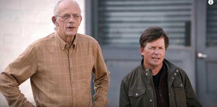 Toyota réussi à réunir les deux acteurs phares du film dans un long film publicitaire