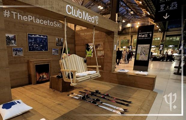 Le Club Med a installé une mini station de ski en plein coeur de la gare de lyon à paris