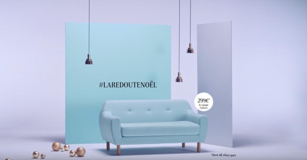 Jusqu'au 24 décembre, La Redoute dévoile une idée cadeau et propose de la gagner sur Twitter et pinterest avec le hashtag #LaRedouteNoel