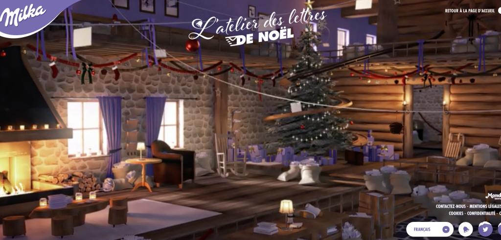 Milka nous plonge dans la féerie de Noël avec un atelier de lettres de Noël plus vrai que nature