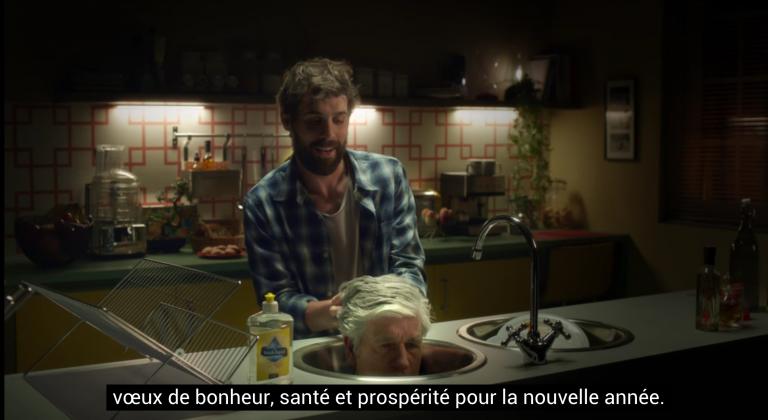 Malgré le skip, Maurice Lévy réussi à présenter ses voeux en entier en s'incrustant dans les publicités