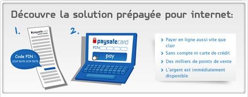 Paysafecard est une carte prépayée qui permet de payer sur Internet sans compte bancaire ni carte de crédit, juste en utilisant un code PIN